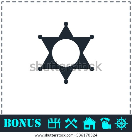 Star icon flat. Simple vector symbol and bonus icon
