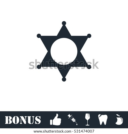 Star icon flat. Vector illustration symbol and bonus pictogram