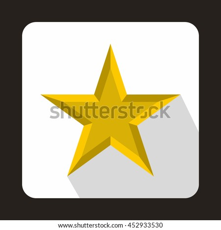 Star icon in flat style on a white background