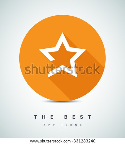 star icon. Leader, winner, boss, rank, medal, sport logo, competition, sky symbol, astrology, military, troops. Isolated minimal single flat icon. - stock vector