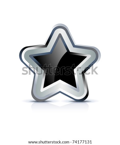 star icon on white background - stock vector