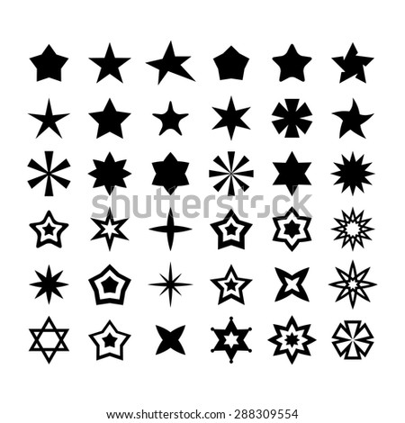 Star Icon set - stock vector