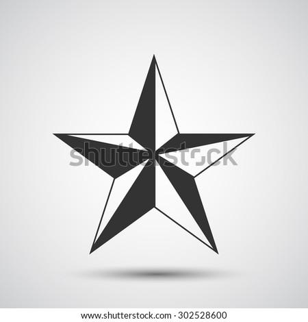 Star icon - Vector - stock vector