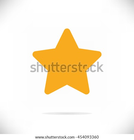 Star Icon Vector - stock vector