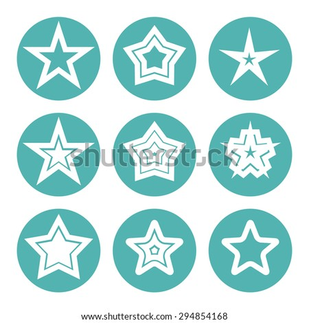 Star icon vector illustration isolated on white background - stock vector