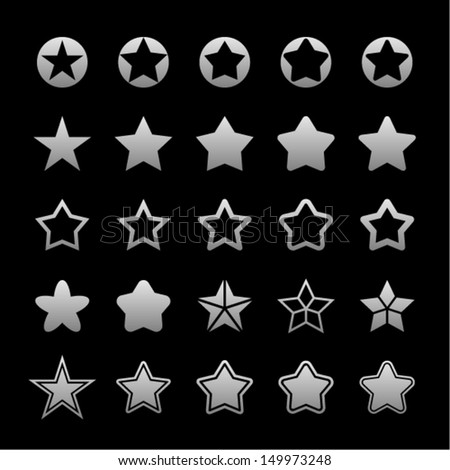Star icons for website - stock vector