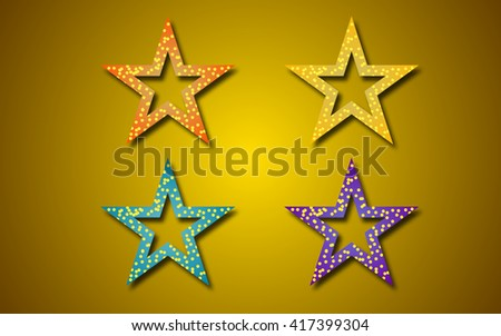 Star icons. Vector illustration EPS 10 - stock vector