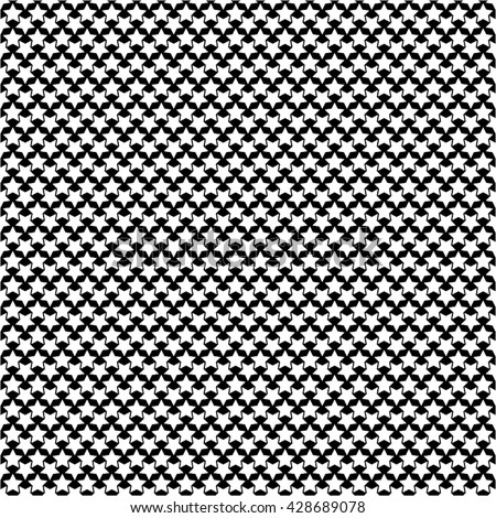 Star in a monochrome pattern, seamless vector background.