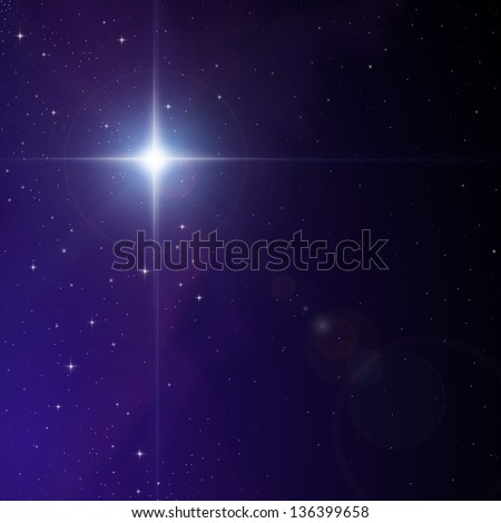Star in Nebula - stock vector