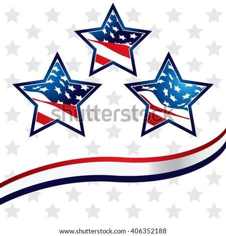 Star in the American flag background vector
