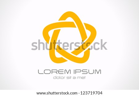 Star infinite loop abstract logo design template. Cycle Vector icon. - stock vector