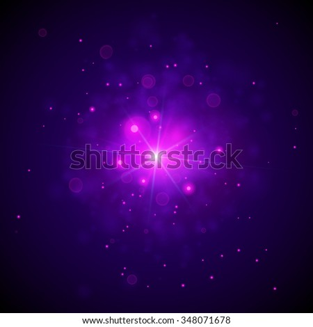 Star Light Background. Abstract Astrology Concept. Vector Illustration