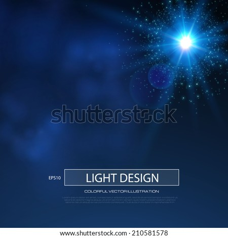 Star light background.  Vector illustration - stock vector