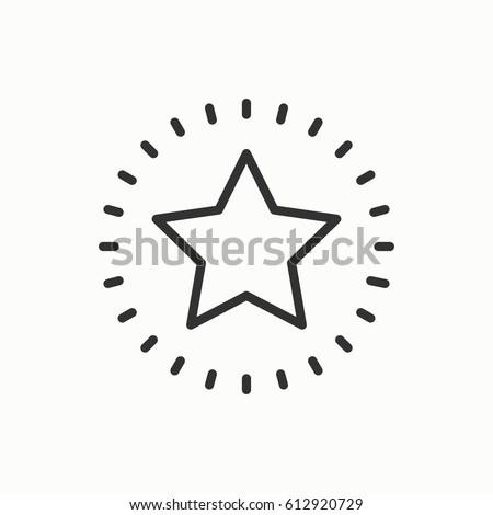 Star line outline icon best choice stock vector 612920729 shutterstock star line outline icon best choice favorite sign rating symbol trendy isolated sciox Gallery