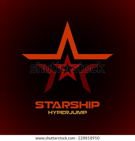 Star logo template. Space technical military theme. - stock vector