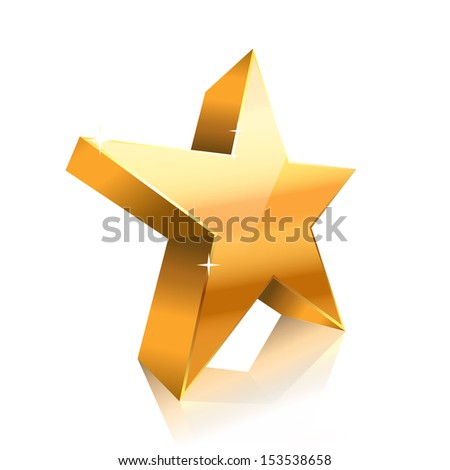 star made of gold - stock vector
