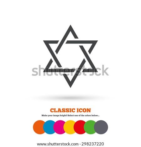 Star David Sign Icon Symbol Israel Stock Vector 298237220 Shutterstock