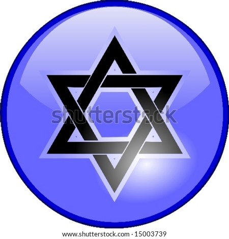star of david sign or israel symbol - stock vector