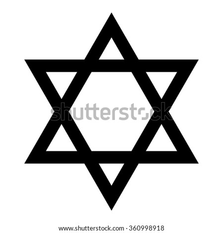 Star of David. Symbol of Israel. Isolated on white background