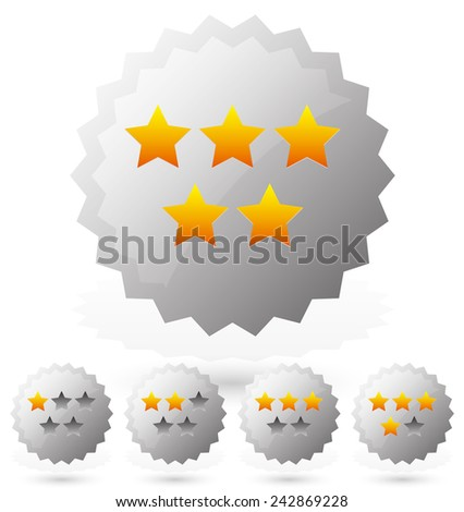 Star rating badges - stock vector