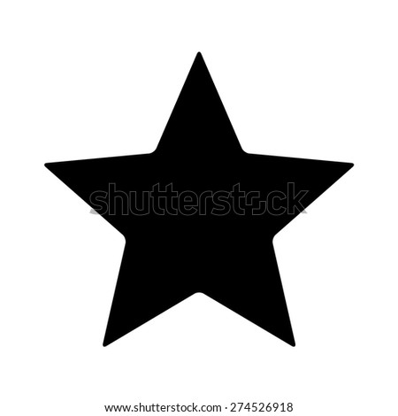 Star rating flat icon for apps and websites - stock vector