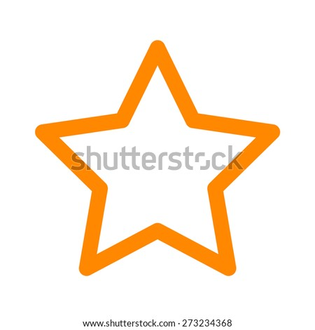 Star rating line art icon for apps and websites - stock vector