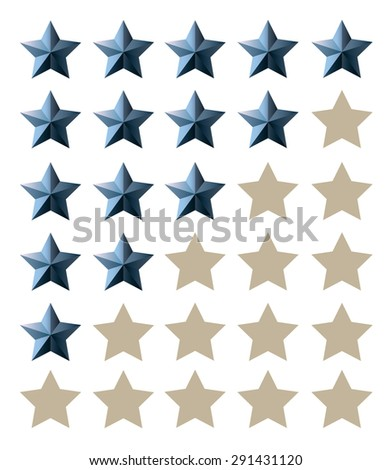 Star rating, ranking (0-5) - stock vector
