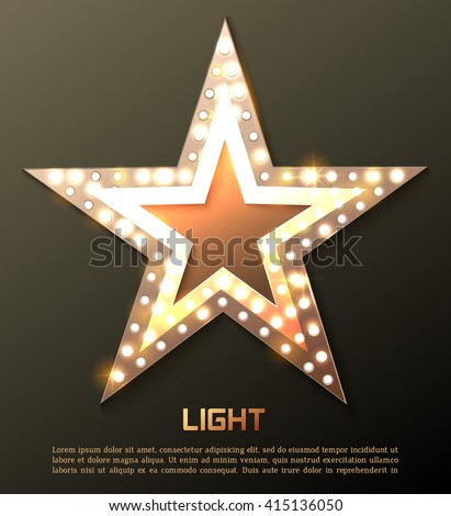 Star retro light banner. Vector illustration eps 10 - stock vector