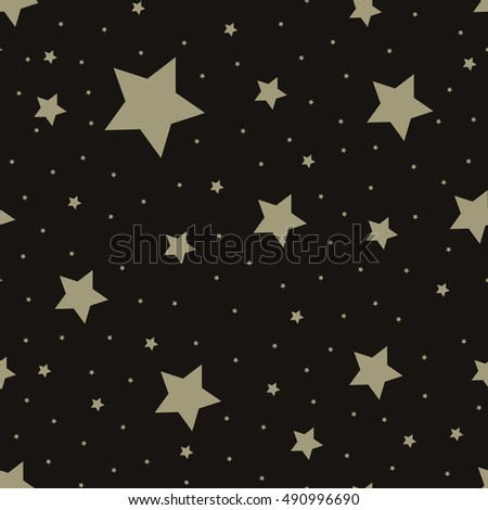 Star seamless pattern. Repeating star background.