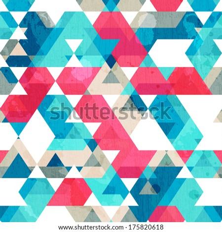 star seamless texture with grunge effect - stock vector