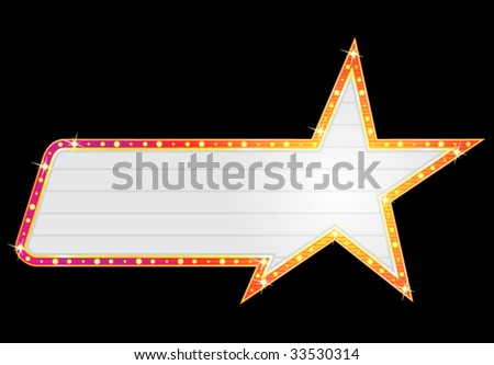 Star shape neon - stock vector