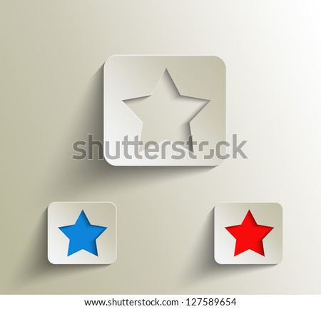 Star shape over white vector background - stock vector