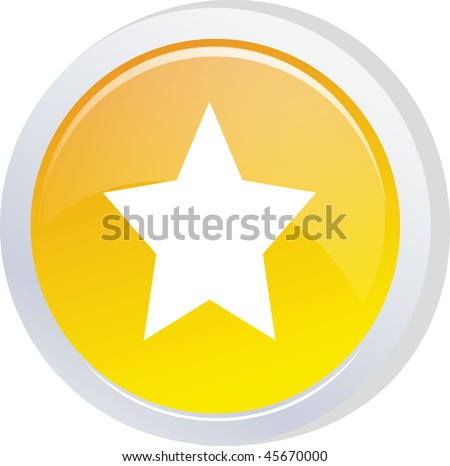 star sign icon button - stock vector