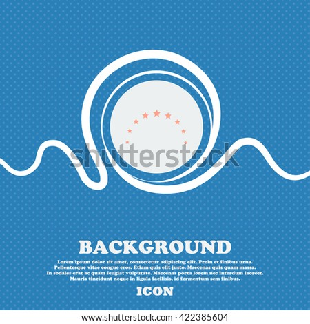 Star sign icon. Favorite button. Navigation symbol. Blue and white abstract background flecked with space for text and your design. Vector illustration - stock vector