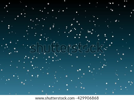 Star sky vector illustration. Beautiful night sky background. - stock vector