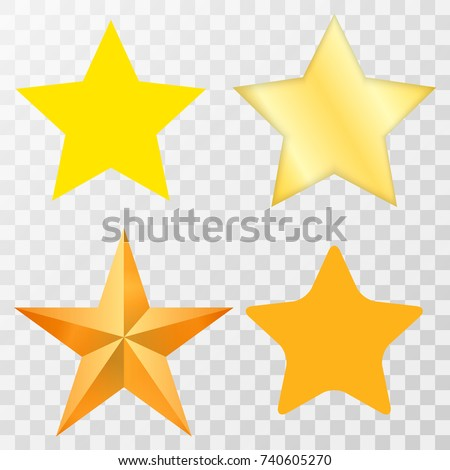Star / Star-icon / Star-vector / Star set on transparent background