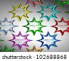 star stickers - stock photo