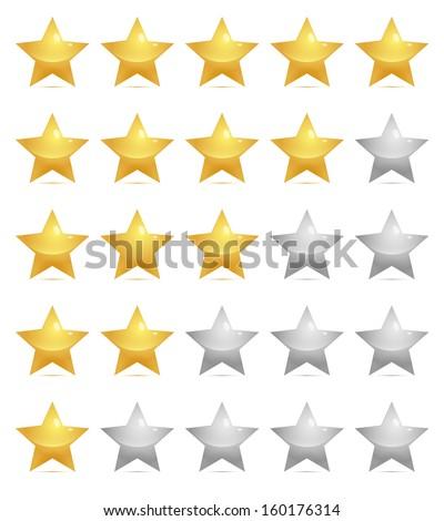 Star symbols / Ratings template - stock vector