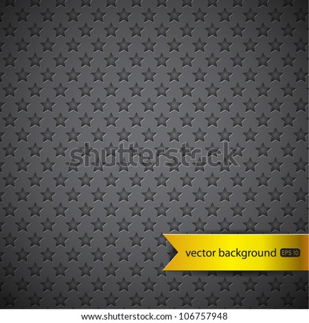 Star texture background - stock vector