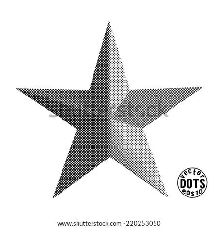 star, vector dots eps10  - stock vector