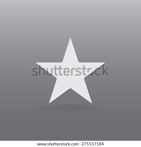 Star vector icon  - stock vector