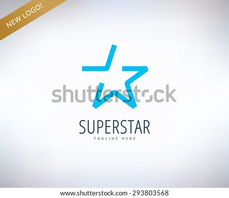 Star vector logo icon. Leader, winner, rank or competition and shine symbol. Stock design element. - stock vector