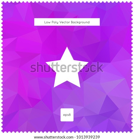star vector violet polygonal background. The vector illustration for ui, web games, tablets, wallpapers, and patterns.