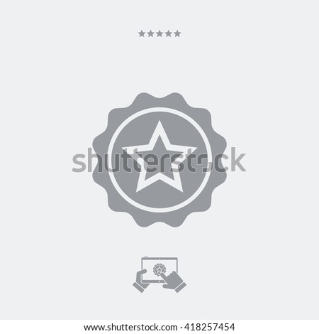 Star vector web icon - stock vector