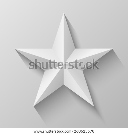 Star with bevel - stock vector