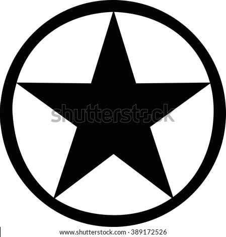 Star Clip Art with Circle around It