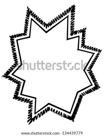 starburst ad frame retro clip art stock vector 2018 134439779 rh shutterstock com retro starburst clipart free