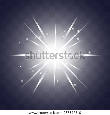 starburst sparkle star. glowing light effect stars bursts with sparkles. vector illustration - stock vector