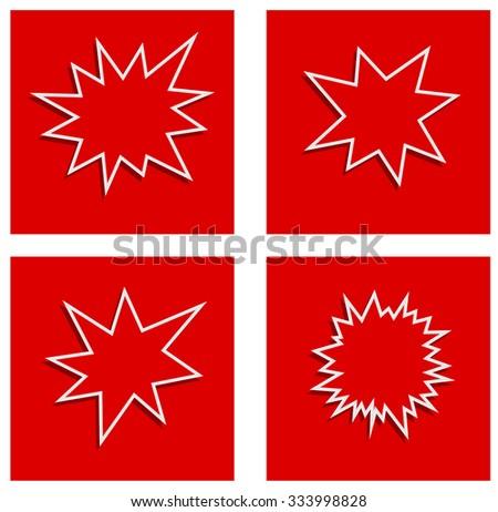 starburst splash star abstract banner - stock vector