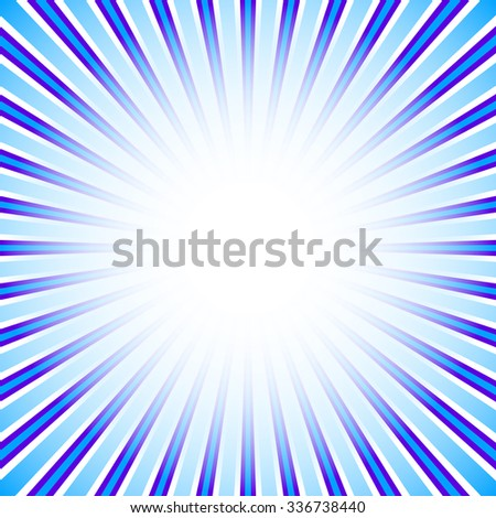 Starburst, sunburst background. Converging, radial, radiating lines.